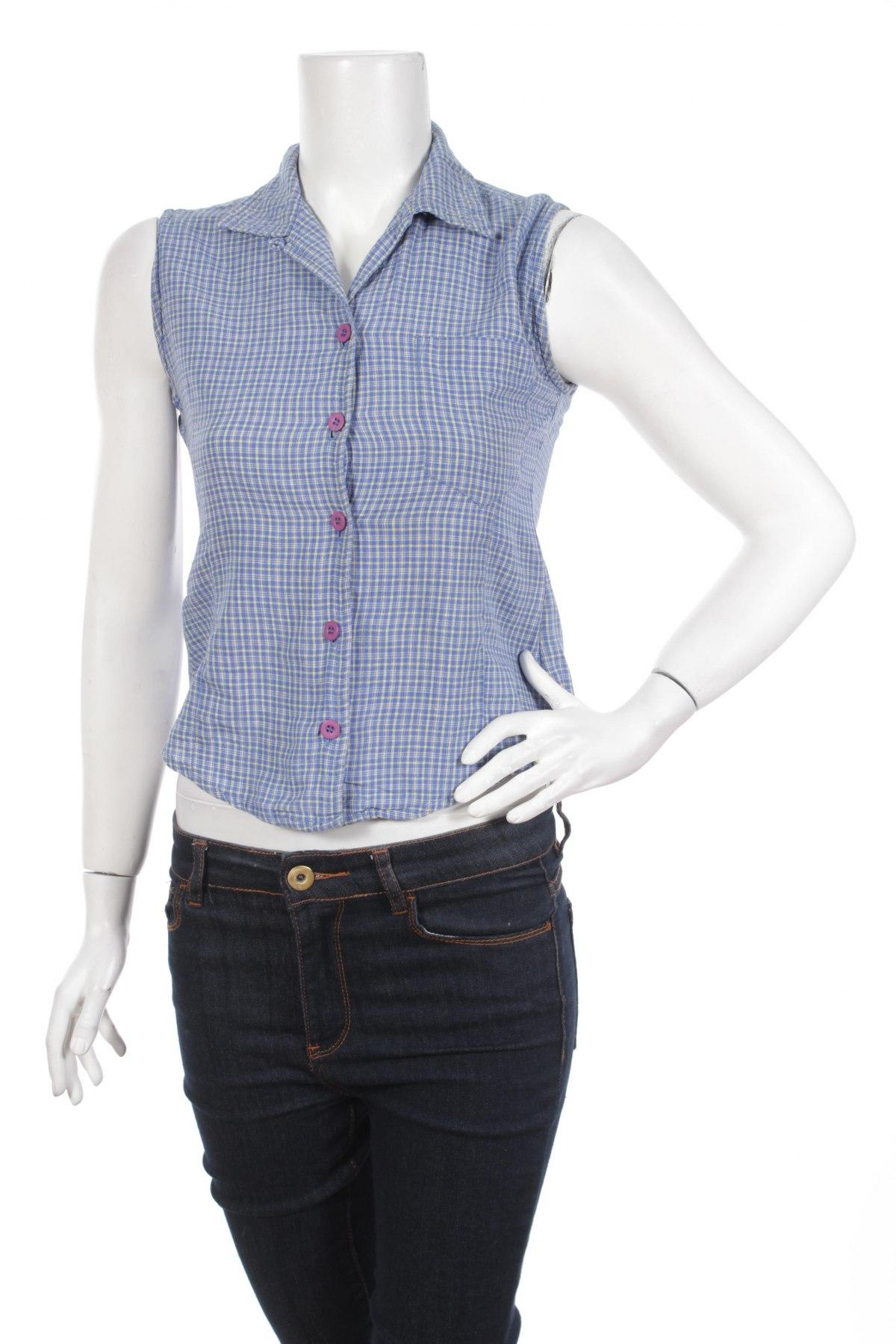 Γυναικείο πουκάμισο Colours Of The World, Μέγεθος S, Χρώμα Μπλέ, Βαμβάκι, Τιμή 9,79€