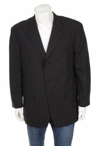 Ανδρικό σακάκι Angelico, Μέγεθος L, Χρώμα Μαύρο, 95% μαλλί, 3% ελαστάνη, 2% άλλα υφάσματα, Τιμή 7,92€