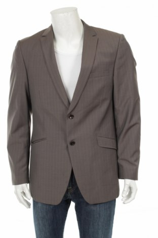 Мъжко сако Peter Van Holland, Размер L, Цвят Сив, 45% вълна, 55% полиестер, Цена 15,50лв.