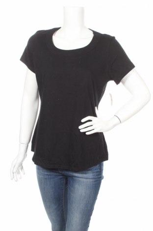 Γυναικείο t-shirt Coldwater Creek, Μέγεθος L, Χρώμα Μαύρο, Βαμβάκι, Τιμή 6,93€