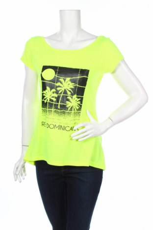 Γυναικείο t-shirt, Μέγεθος XL, Χρώμα Κίτρινο, Βαμβάκι, Τιμή 4,45€