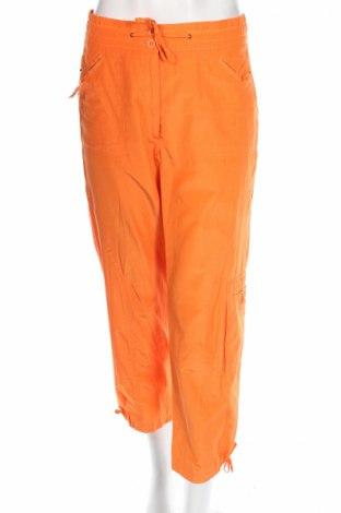 Дамски панталон Laura Lebek, Размер M, Цвят Оранжев, 51% полиестер, 49% памук, Цена 13,11лв.