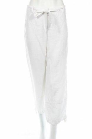 Дамски панталон Comma,, Размер L, Цвят Бял, Лен, Цена 18,00лв.