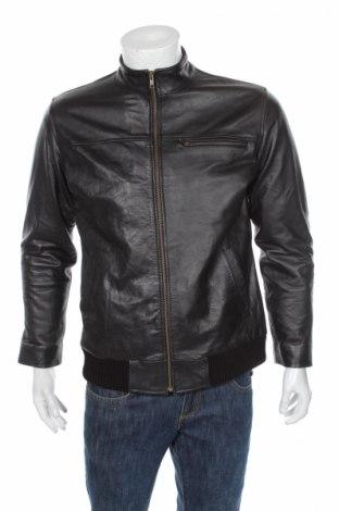 Мъжко кожено яке, Размер L, Цвят Черен, Естествена кожа, Цена 46,80лв.