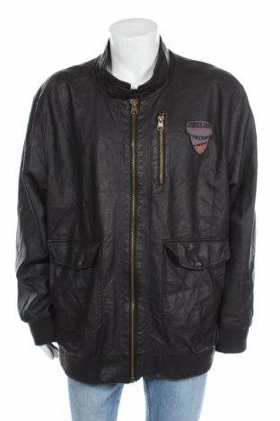 Pánska kožená bunda  Identic, Veľkosť 5XL, Farba Čierna, Eko koža , Cena  24,95€