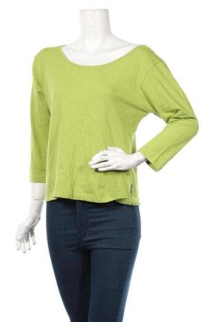Дамска блуза Azuri, Размер XL, Цвят Зелен, 95% памук, 5% еластан, Цена 13,65лв.