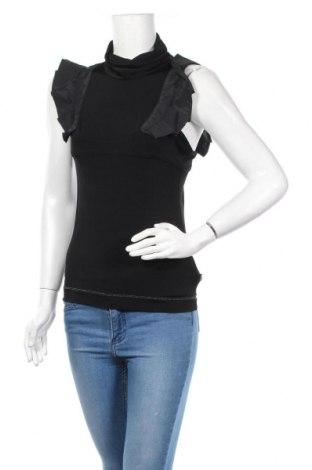 Дамска блуза Just Cavalli, Размер M, Цвят Черен, 90% вискоза, 10% еластан, Цена 82,23лв.