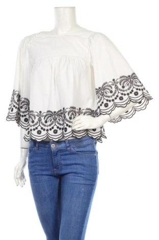 Дамска блуза Zara, Размер S, Цвят Бял, Памук, Цена 39,51лв.