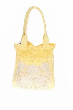 Дамска чанта Cream, Цвят Жълт, Текстил, Цена 31,80лв.