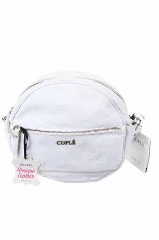 Γυναικεία τσάντα Cuple, Χρώμα Λευκό, Γνήσιο δέρμα, Τιμή 46,54€