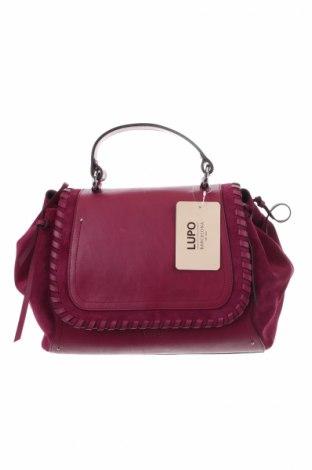 Γυναικεία τσάντα Lupo, Χρώμα Βιολετί, Γνήσιο δέρμα, φυσικό σουέτ, Τιμή 173,89€
