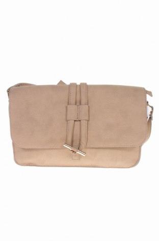 Дамска чанта Msk, Цвят Бежов, Еко кожа, Цена 15,60лв.