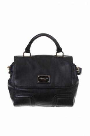 Дамска чанта Oroton, Цвят Черен, Естествена кожа, Цена 66,53лв.