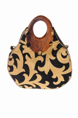 Дамска чанта Zara, Цвят Черен, Текстил, Цена 32,00лв.