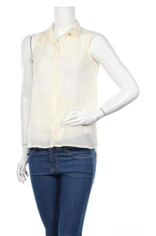 Дамска риза Amisu, Размер XS, Цвят Екрю, 100% полиестер, Цена 6,00лв.