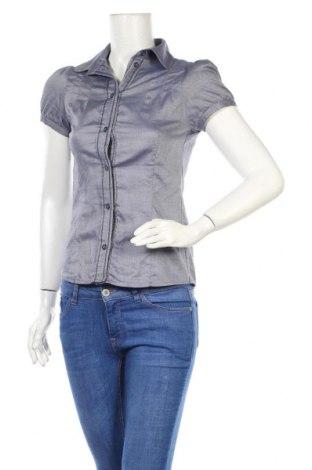 Дамска риза Zara Trafaluc, Размер M, Цвят Син, Памук, Цена 24,46лв.