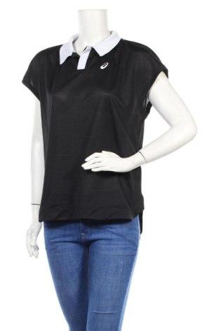 Дамска тениска ASICS, Размер XL, Цвят Черен, 100% полиестер, Цена 9,50лв.