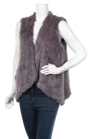 Dámska kožená vesta , Veľkosť L, Farba Fialová, Prírodná kožušina , Cena  47,06€