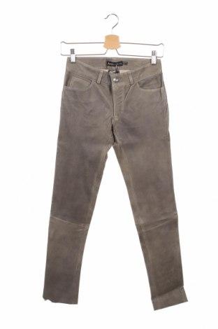 Дамски кожен панталон Arma, Размер XS, Цвят Сив, Естествена кожа, Цена 49,92лв.