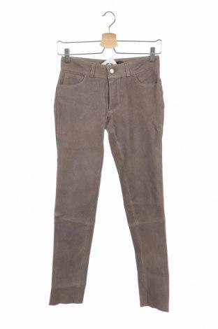 Дамски кожен панталон Arma, Размер XS, Цвят Кафяв, Естествена кожа, Цена 48,36лв.