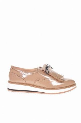 Дамски обувки Zara, Размер 41, Цвят Бежов, Еко кожа, Цена 53,89лв.