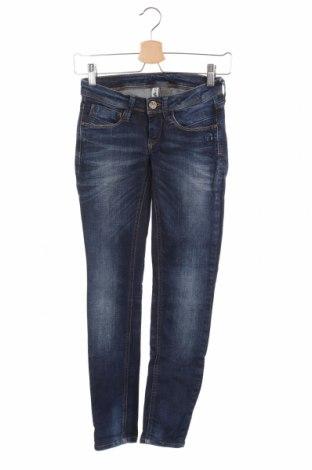 Дамски панталон Gang, Размер XS, Цвят Син, 98% памук, 2% еластан, Цена 16,20лв.