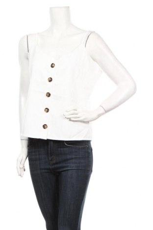 Γυναικείο αμάνικο μπλουζάκι Qed London, Μέγεθος L, Χρώμα Λευκό, Βαμβάκι, Τιμή 5,32€