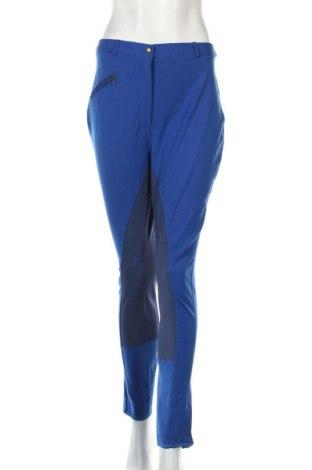 Дамски спортен панталон, Размер L, Цвят Син, 68% памук, 24% полиамид, 8% еластан, Цена 8,93лв.