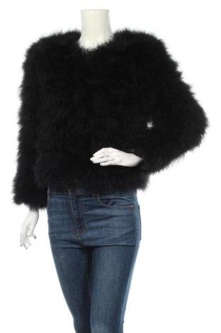 Dámska kožená bunda , Veľkosť M, Farba Čierna, Pravé perie , Cena  95,82€