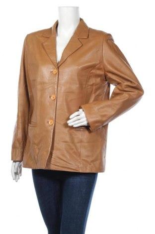 Дамско кожено сако, Размер L, Цвят Кафяв, Естествена кожа, Цена 17,85лв.