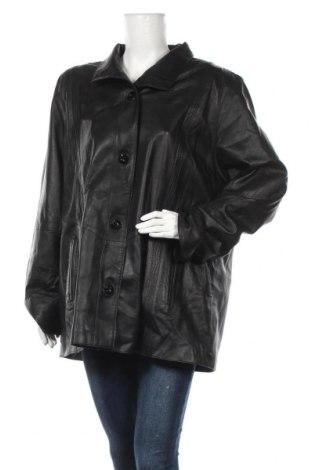 Дамско кожено яке, Размер XL, Цвят Черен, Естествена кожа, Цена 20,16лв.
