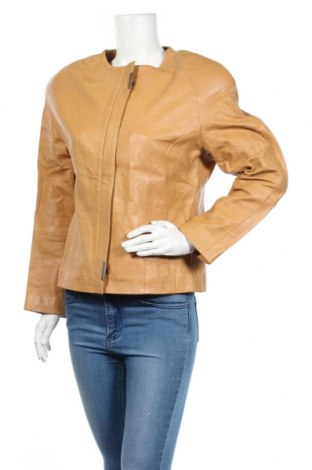 Дамско кожено яке Fabiani, Размер L, Цвят Кафяв, Естествена кожа, Цена 31,76лв.