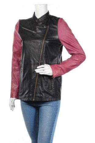 Дамско кожено яке Gestuz, Размер S, Цвят Черен, Естествена кожа, Цена 79,80лв.