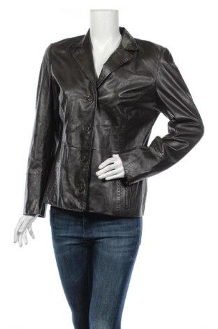 Дамско кожено яке Peter Hahn, Размер M, Цвят Кафяв, Естествена кожа, Цена 30,03лв.