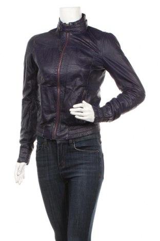 Дамско кожено яке Tom Tailor, Размер S, Цвят Лилав, Естествена кожа, Цена 48,20лв.