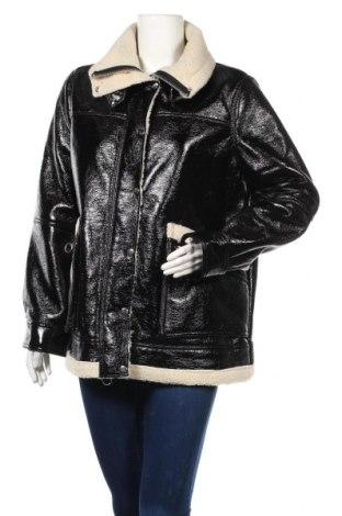 Дамско кожено яке Topshop, Размер XL, Цвят Черен, Еко кожа, Цена 85,44лв.