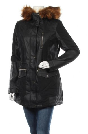 Дамско кожено яке V by Very, Размер M, Цвят Черен, Еко кожа, вискоза, полиестер, Цена 89,25лв.