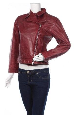 Дамско кожено яке Virmani, Размер S, Цвят Червен, Естествена кожа, Цена 28,67лв.