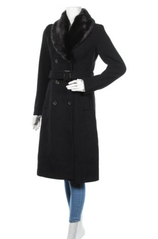 Дамско палто About You, Размер S, Цвят Черен, 56% полиестер, 33% вълна, 11% други материали, Цена 159,00лв.