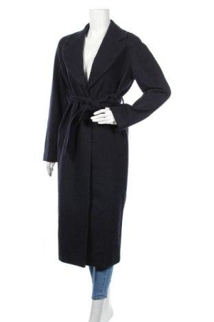 Дамско палто Edited, Размер M, Цвят Син, 80% вълна, 20% полиамид, Цена 229,00лв.