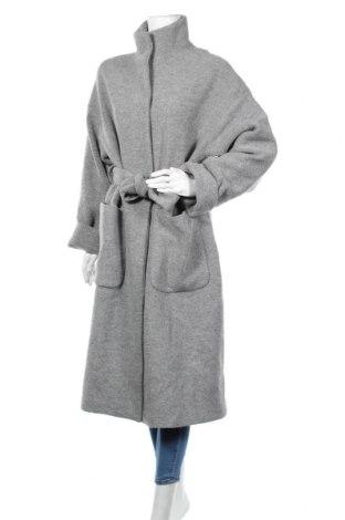 Дамско палто Edited, Размер L, Цвят Сив, 52% вълна, 48% вискоза, Цена 162,00лв.