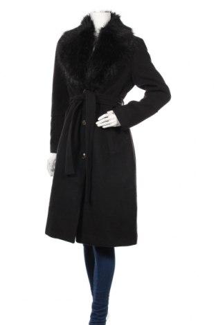 Дамско палто Ivyrevel, Размер M, Цвят Черен, Полиестер, естествен косъм, вискоза, еластан, Цена 189,00лв.