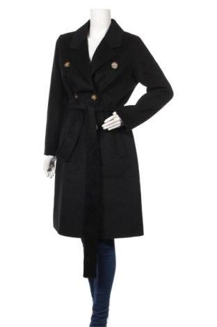 Дамско палто Mango, Размер M, Цвят Черен, 49% вълна, 42% полиестер, 3% полиамид, 2% вискоза, Цена 139,00лв.