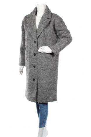 Дамско палто Tigha, Размер S, Цвят Сив, 44% вълна, 54% полиестер, 2% полиамид, Цена 339,00лв.