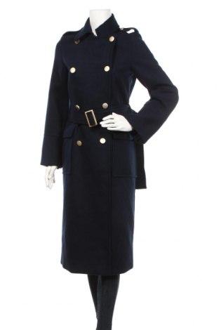Дамско палто Topshop, Размер S, Цвят Син, 95% полиестер, 3% вискоза, 2% еластан, Цена 143,04лв.