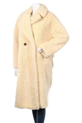 Дамско палто Topshop, Размер XL, Цвят Бежов, Полиестер, Цена 143,04лв.