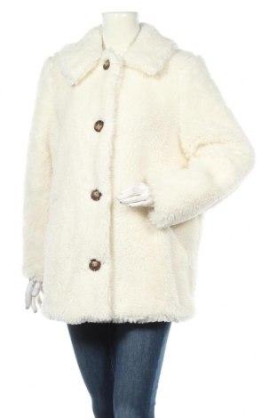 Дамско палто Topshop, Размер L, Цвят Бял, 61% полиестер, 39% акрил, Цена 133,44лв.