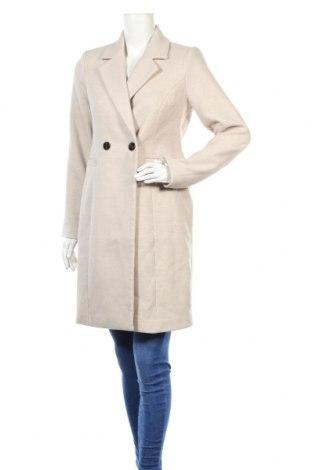 Дамско палто Vero Moda, Размер XS, Цвят Бежов, 89% полиестер, 10% вискоза, 1% еластан, Цена 74,00лв.