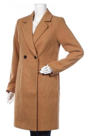 Дамско палто Vero Moda, Размер S, Цвят Кафяв, 89% полиестер, 10% вискоза, 1% еластан, Цена 89,00лв.