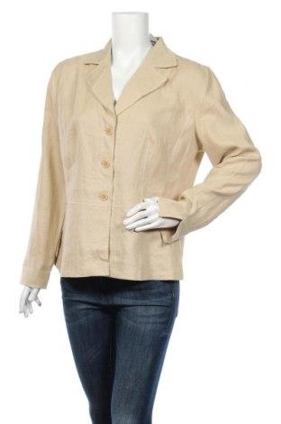 Γυναικείο σακάκι G.W., Μέγεθος L, Χρώμα  Μπέζ, Λινό, Τιμή 16,82€